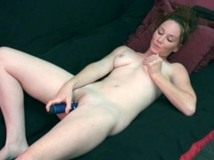 Vibrating dildo makes cutie moan in pleasure videos