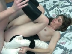 Lady in boots fucked in the wet vagina movies at sgirls.net