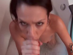Cute cocksucker in a bubble bath movies at freekiloclips.com