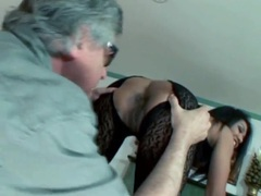 Asian in body stocking gets a sexy rimjob tubes at asian.sgirls.net