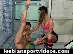 Lesbian coach seduces sweet teen girl movies at lingerie-mania.com