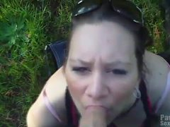 Girlfriend uses mouth on cock in public movies at kilogirls.com