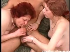 His dick gets hard as two older ladies blow him movies at nastyadult.info