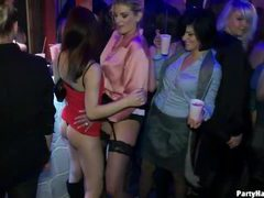 Party girls get horny in the club movies at freekilomovies.com