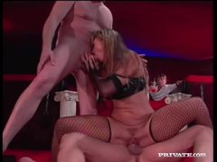 Leather on a double penetration fuck slut movies at kilovideos.com
