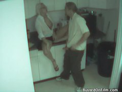 Couple caught fucking in the office kitchen videos