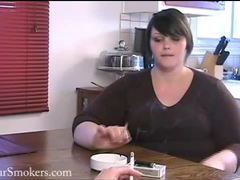 Very cute bbw milla has a morning smoke videos