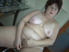 Chubby grandma masturbates hairy pussy movies at find-best-tits.com
