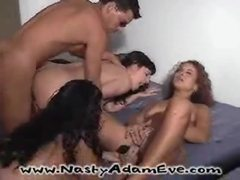 Wild interracial sex party gets real hardcore orgy movies at kilosex.com