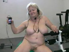 Fat granny working out naked videos