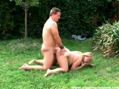 Fat girl fucked in her loose pussy outdoors tubes