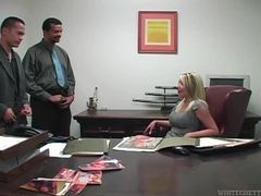 She wants them to jerk off on her ass in office movies