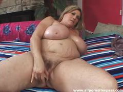 Fat girl rubs oil all over her big titties movies at lingerie-mania.com