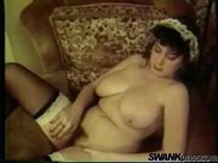 Vintage french maid with big boobs cleans videos