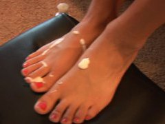 Foot fetish video with lusty lotion play tubes
