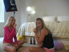 Girls play cards and suck lollipops on camera movies at kilosex.com