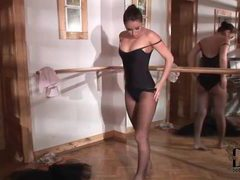 Ballerina dances and strips sensually movies at lingerie-mania.com