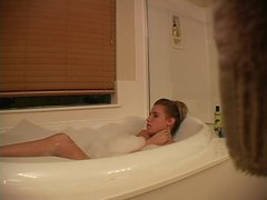 Hidden camera captures girl masturbating in bathtub movies at adipics.com