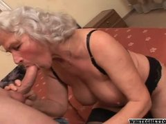 Grey haired granny in sexy lingerie getting pumped movies at find-best-videos.com