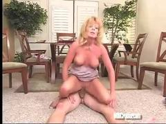 Mature blonde makes his day with a good fuck movies at lingerie-mania.com