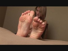 Foot rub with a cute teenage girl videos