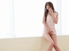 Pretty and elegant japanese model loves to tease in her dress videos