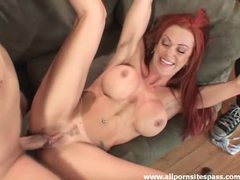 Redhead milf swallows cock in front of hubby movies at find-best-babes.com