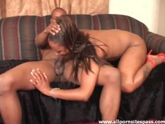 Horny ebony cougar milking cock with her mouth movies at freekiloporn.com