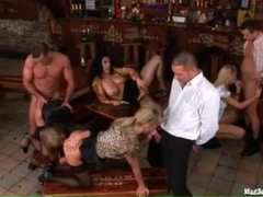 After work orgy in a bar movies at sgirls.net