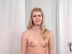 Cute and slender blonde shows off her sex tattoo videos