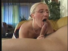 Curvy milf in stockings sits on a dick tubes