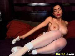 Hot babe with big tits playing pussy hd clip