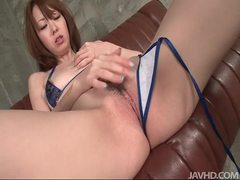 Horny asianbabe in bikini rubbing her pussy tubes at korean.sgirls.net