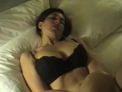 He films girlfriend masturbating in hotel room movies at sgirls.net