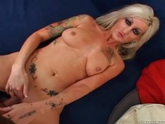 Tattooed blonde milf sucking and fucking cock videos