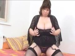 Fat chick with fantastic tits in lingerie movies at sgirls.net