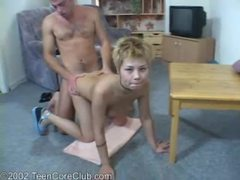 Short haired asian teen gets ravaged tubes at asian.sgirls.net