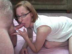 Redhead milf in glasses fucked in the pussy movies at kilotop.com