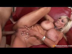 Blonde mature with massive melons fucks younger man videos