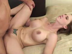 Short haired brunette with pierced nipples has flexible sex movies at sgirls.net