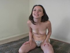 Perky titted brunette polishes dick with her hands movies at kilopics.net