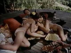 Enjoy retro blowjob threesome outdoors videos