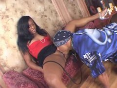 Perky ebony beauty enjoys riding her lover videos