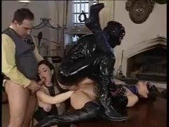 Ass fisting in a latex orgy videos