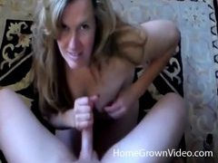 Smiley blonde milf with huge tits milks dick movies at kilopics.net