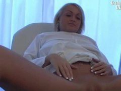 Her pussy is closely examined in doctor video videos