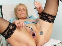 Old lady spreads her legs and plays with her pussy videos
