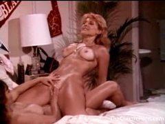 Fun retro lesbian threesome in bedroom movies at adipics.com
