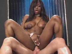 Black anal fuck and cumshot in her mouth videos