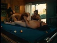 Retro foursome on a pool table movies at find-best-panties.com